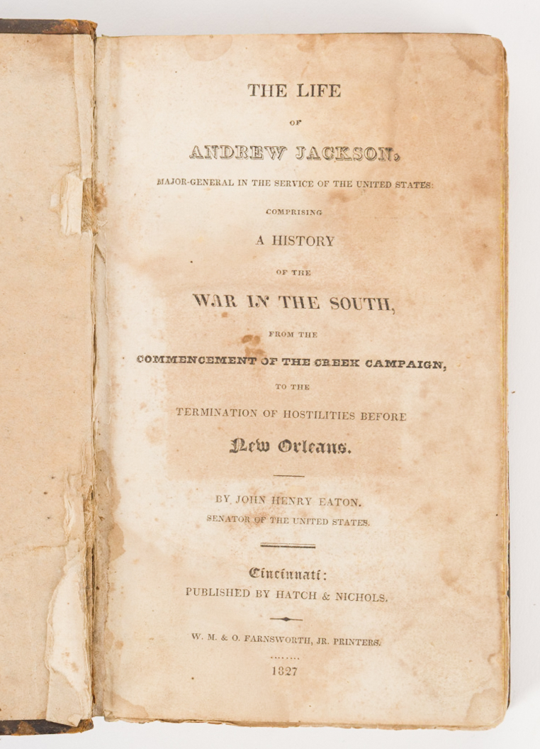 Lot 421: 4 Andrew Jackson Related Historical Books