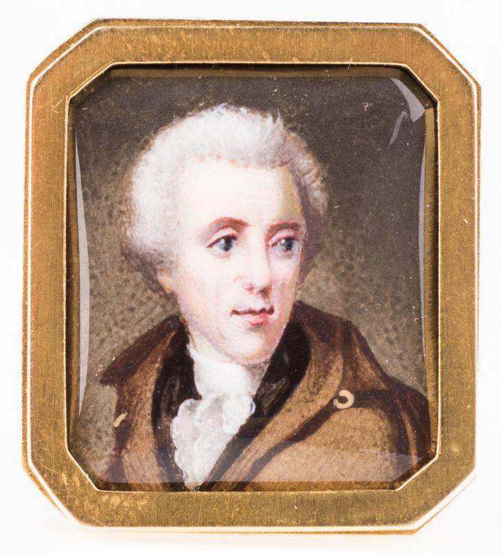 Lot 423: Thomas Birch Miniature Painting of Andrew Jackson