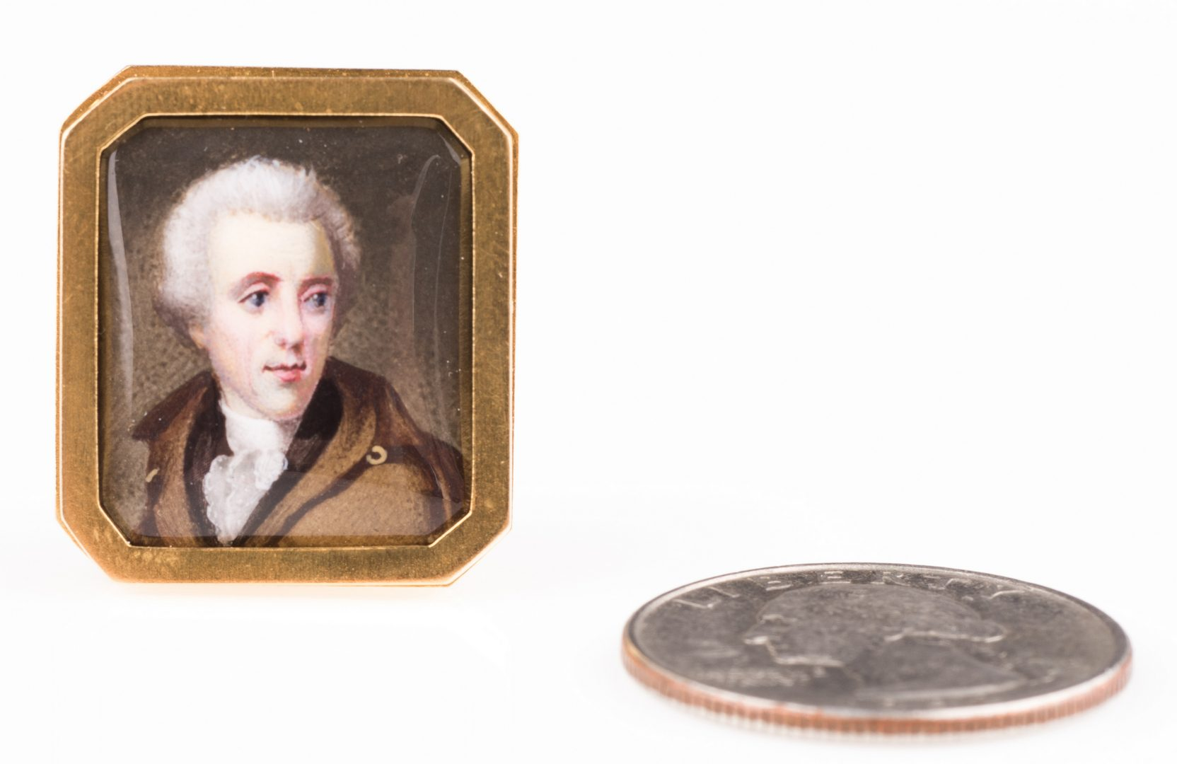 Lot 423: Thomas Birch Miniature Painting of Andrew Jackson