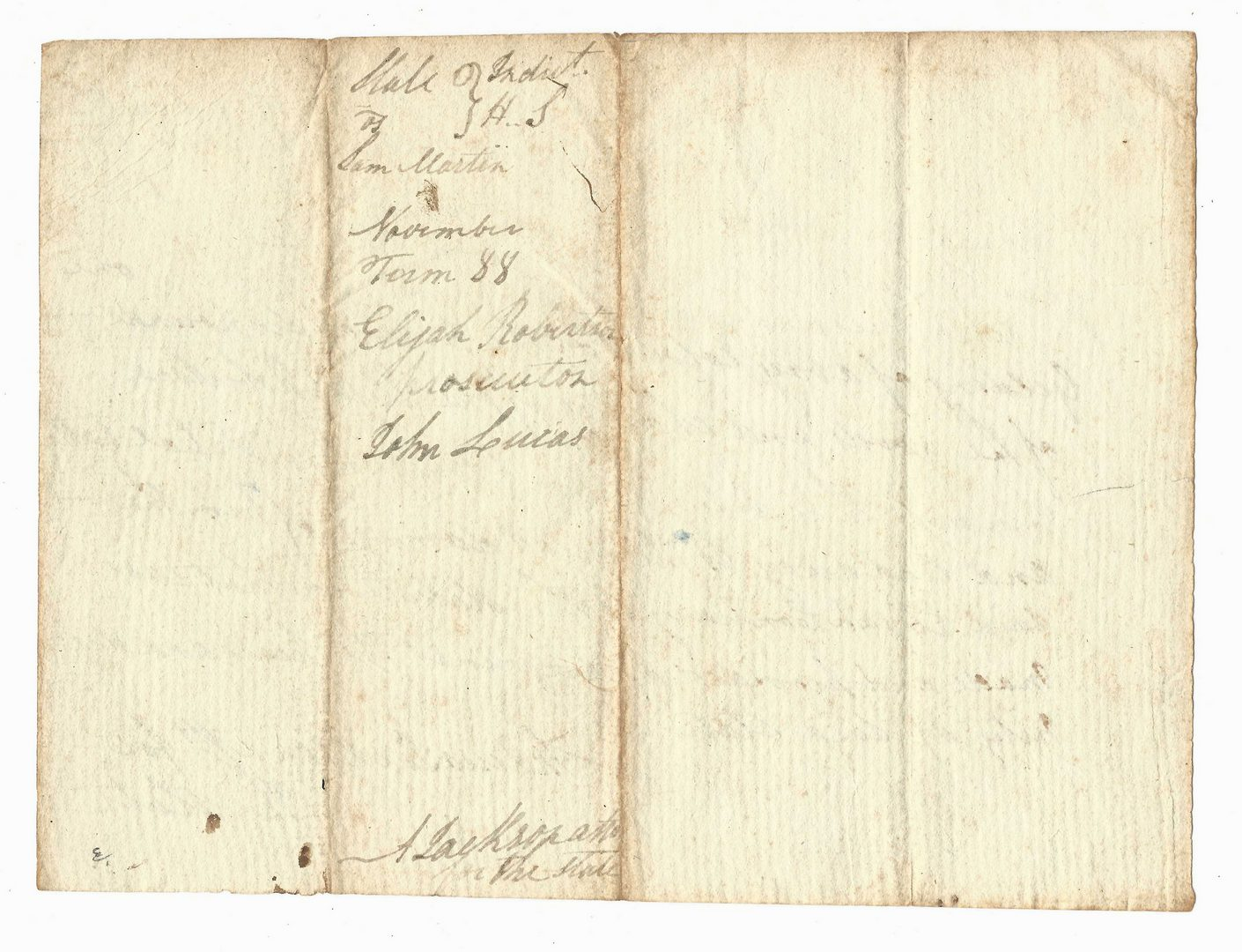 Lot 425: Early Andrew Jackson Signed Legal Document, dated 1788