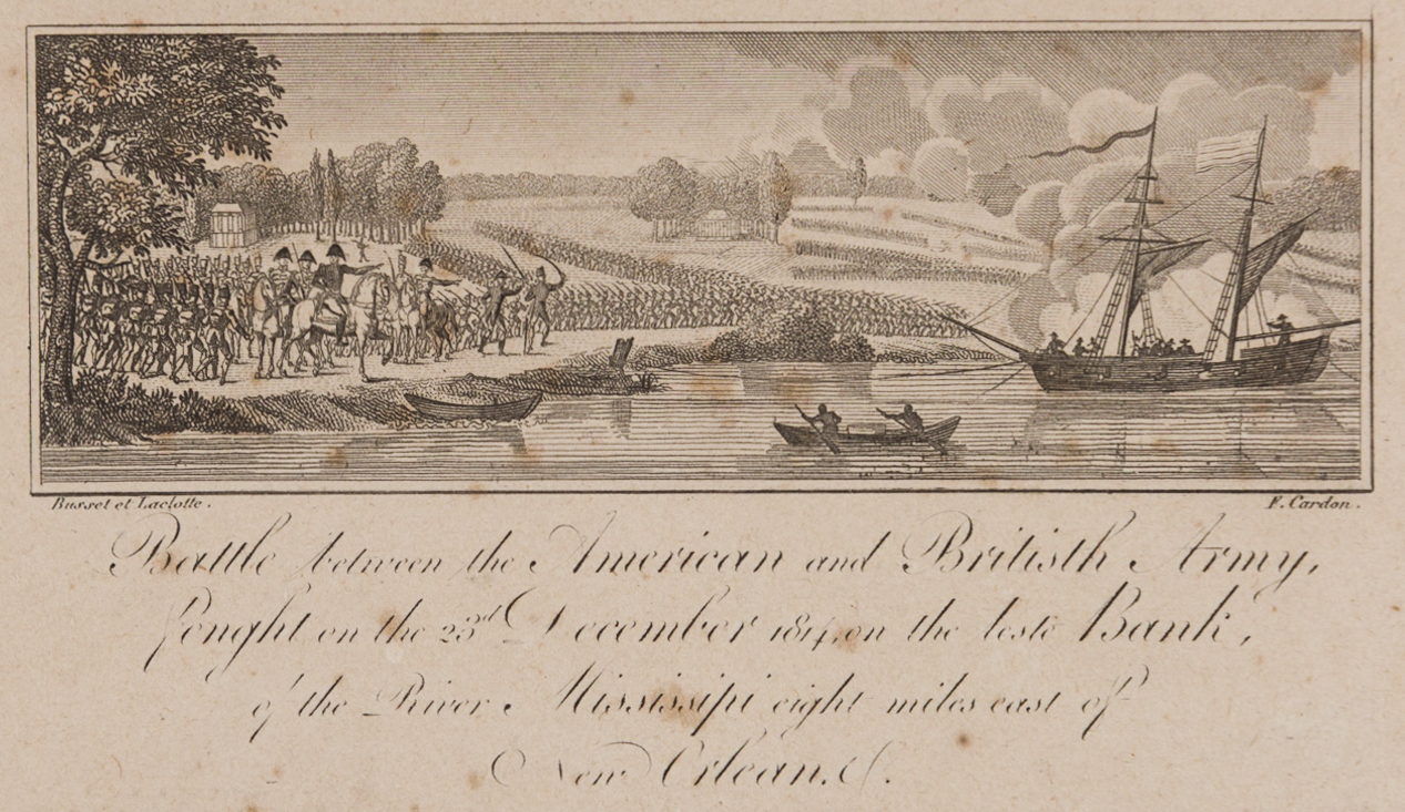 Lot 427: Laclotte, Andrew Jackson and Battle of New Orleans Engraving