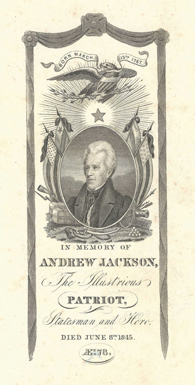 Lot 430: Andrew Jackson Death Prints, 3 items