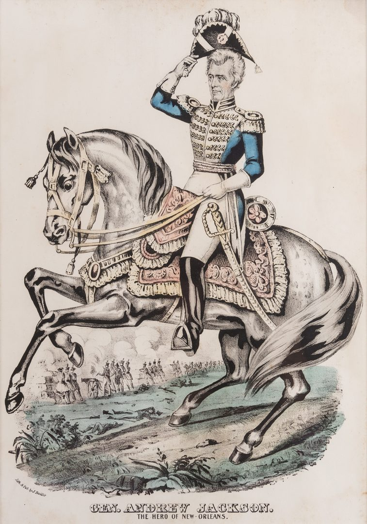 Lot 435: 5 Framed Andrew Jackson Prints