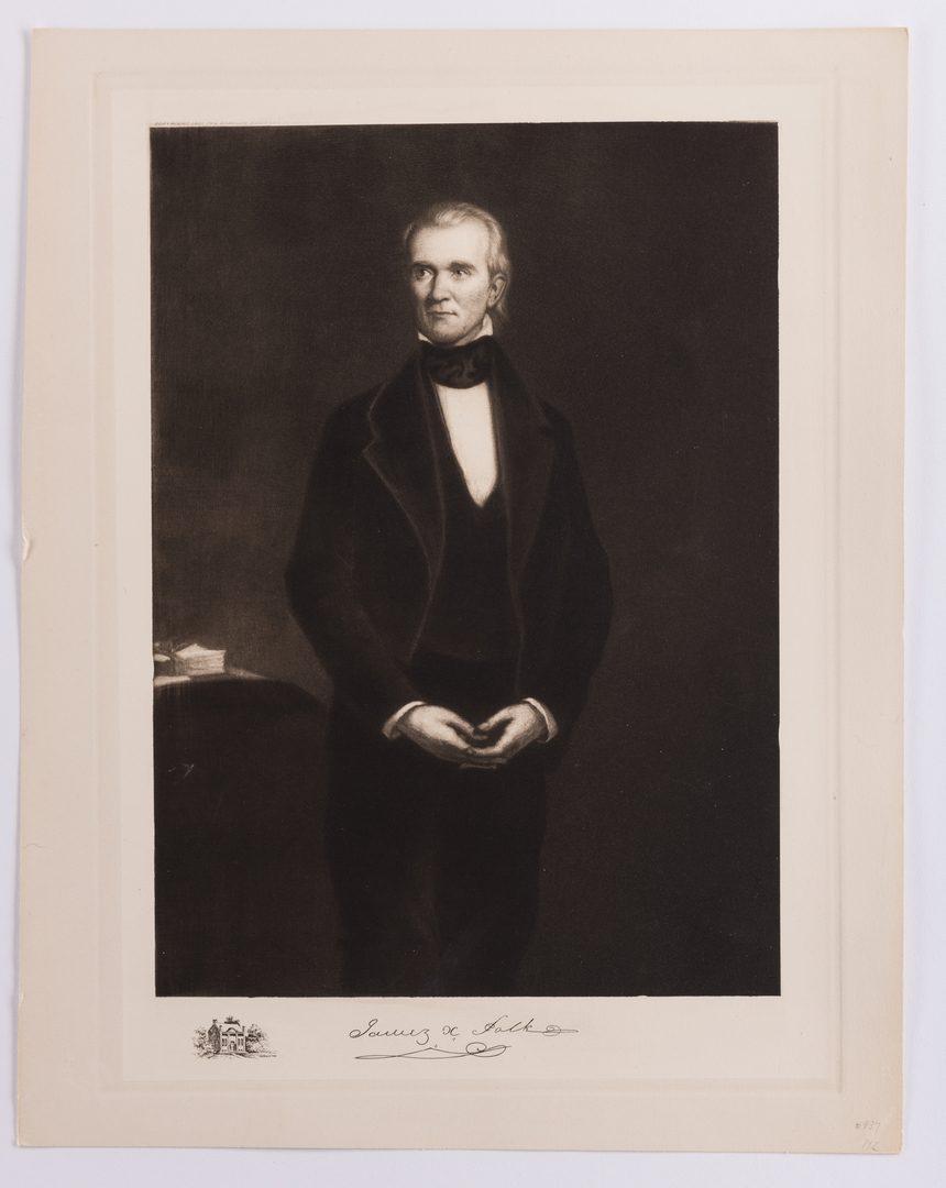 Lot 436: James K. Polk Ephemera, 6 items