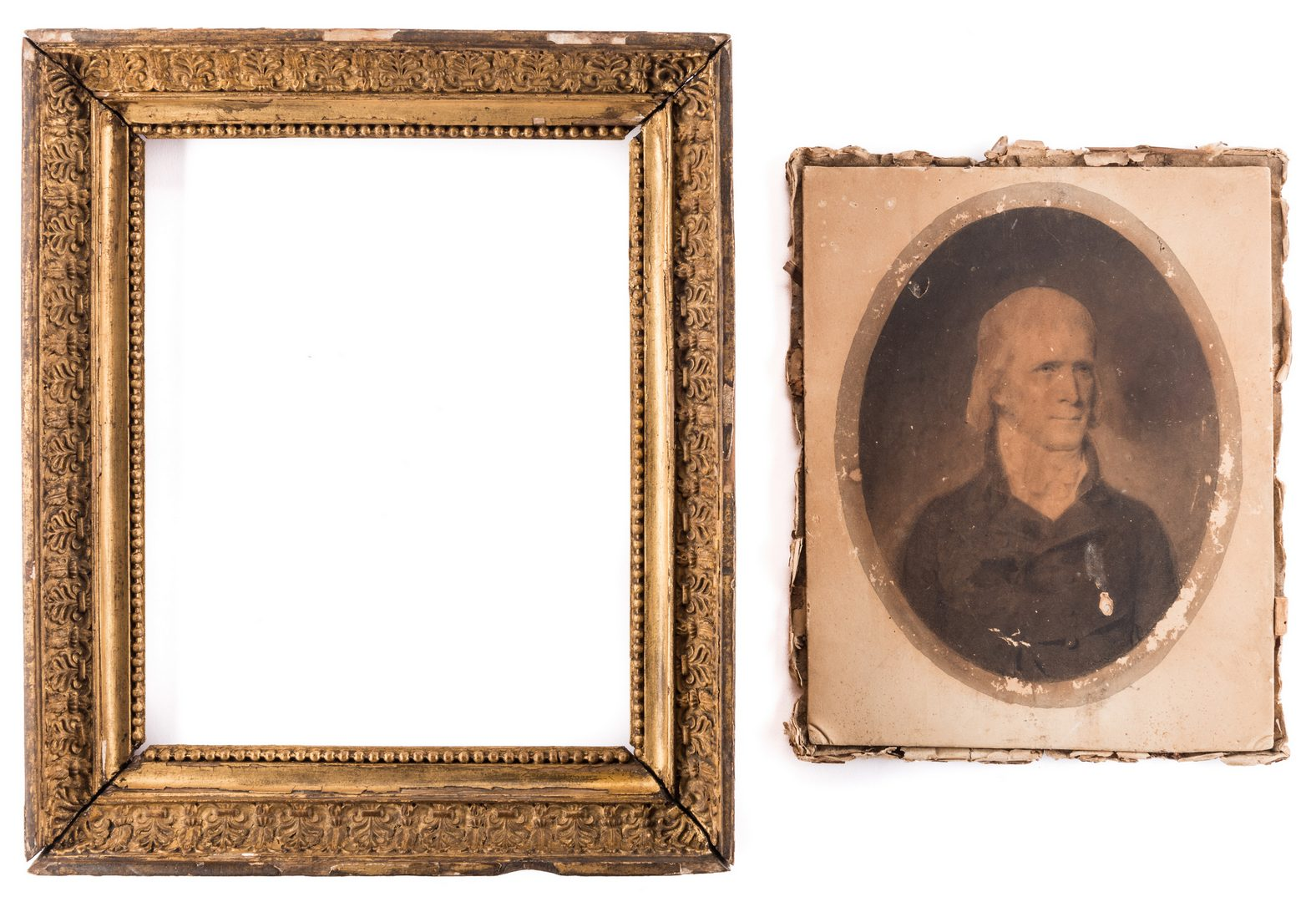 Lot 438: John Vanderlyn 1804 Portrait, possibly Thomas Jefferson
