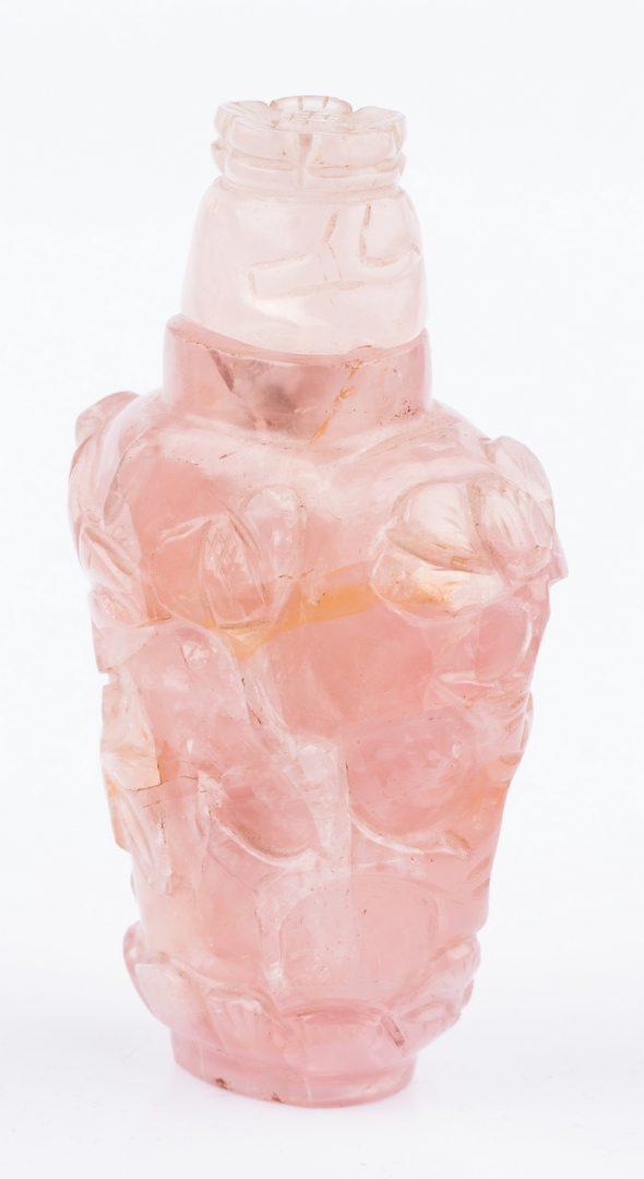 Lot 43: 2 Snuff Bottles including Rose Quartz
