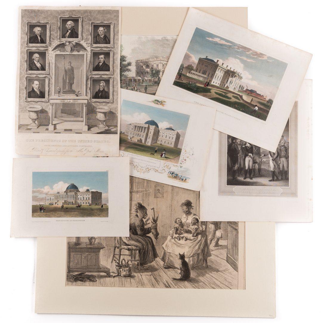 Lot 440: Washington DC and Presidential Prints, 7 pcs.