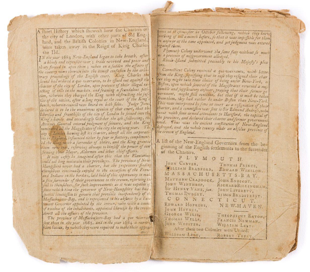 Lot 441: Samuel Stearns Almanack, 1776