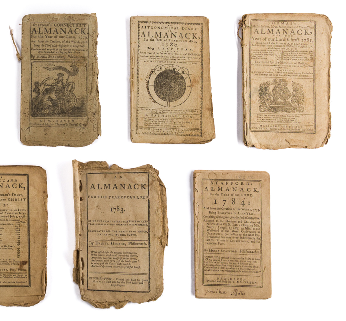 Lot 442: 11 Rev. War Era Almanacks, 1777-1784