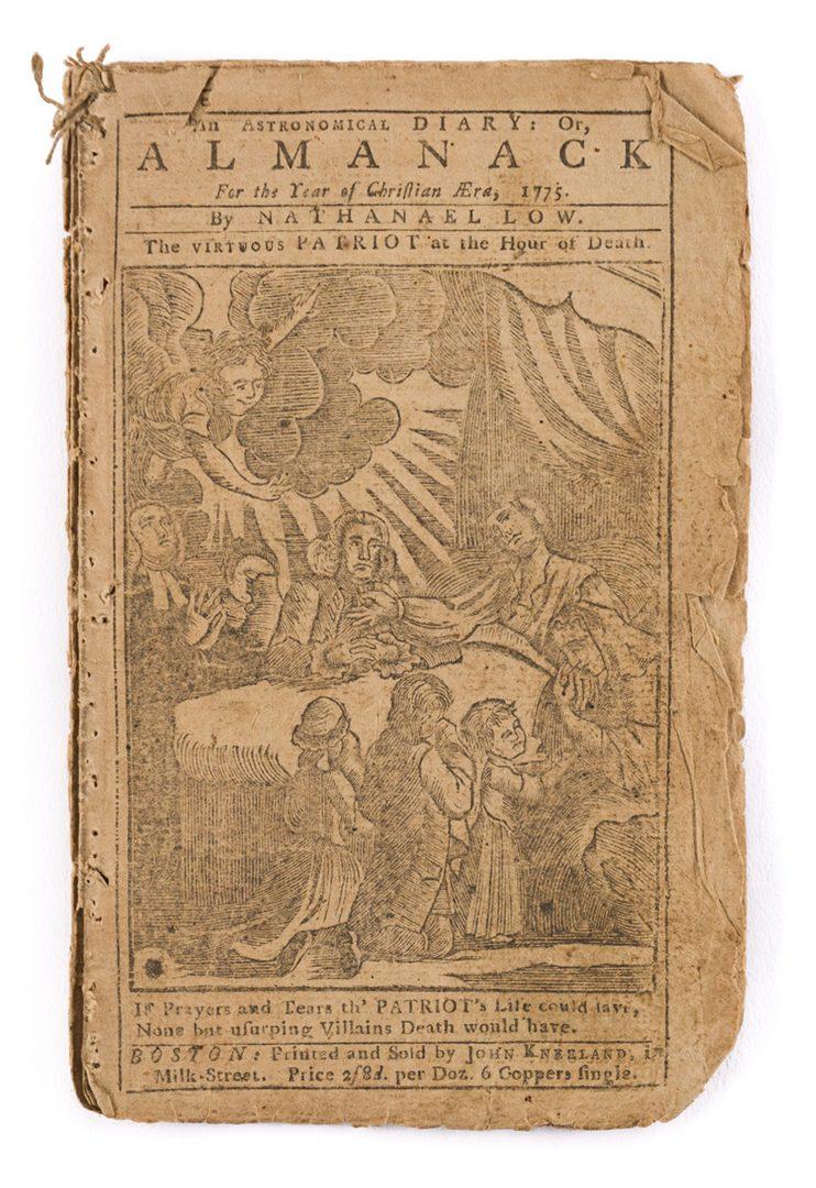 Lot 444: Nathanael Low Almanack, 1775