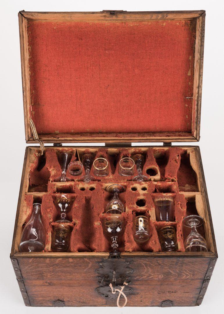Lot 445: Revolutionary War Era Officer's Liquor Chest or Cellaret