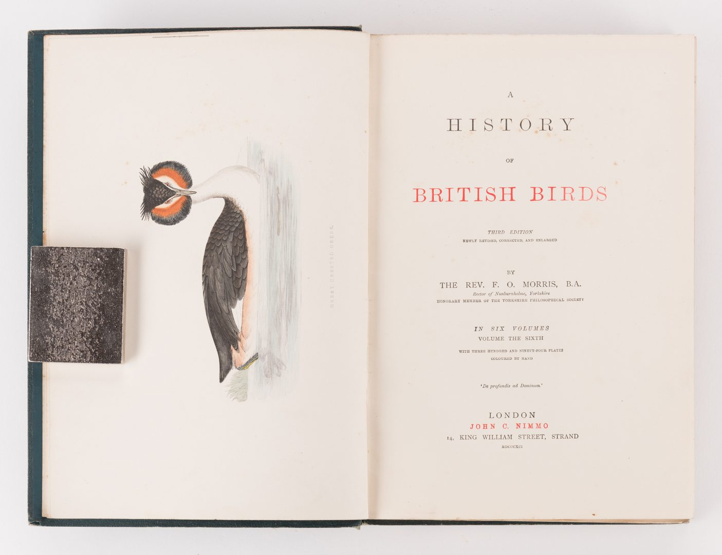 Lot 450: History of British Birds, F. Morris, 1891, 6 Vols.