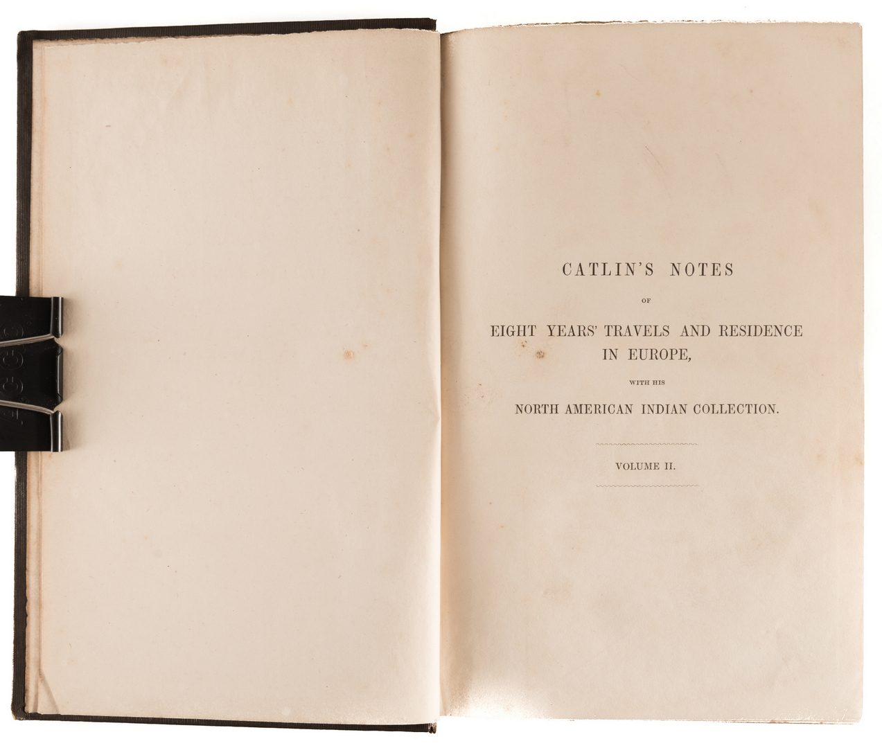 Lot 456: Catlin's Notes in Europe 2 vols