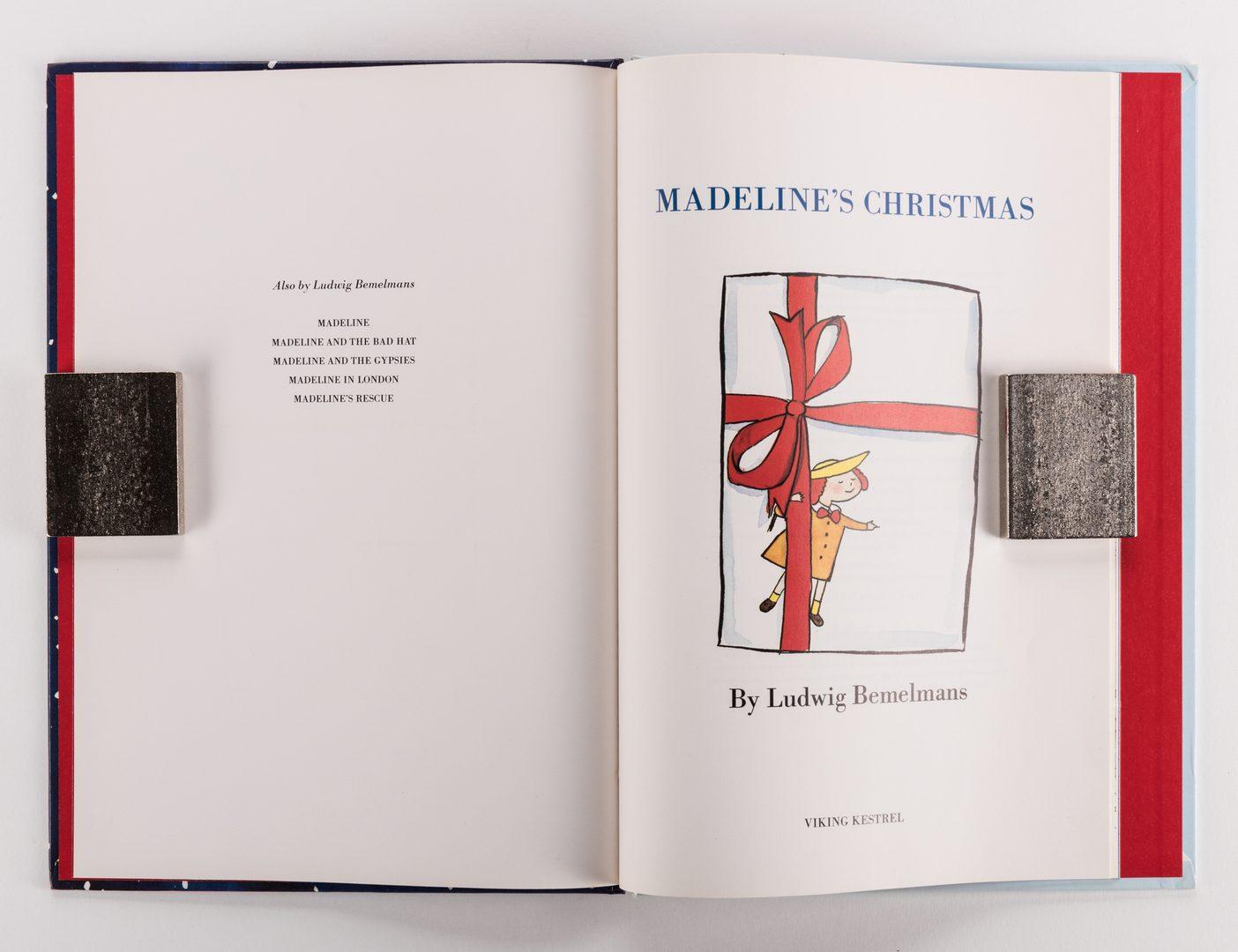Lot 465: Bemelmans Madeline's X-Mas, 1st Ed. & Hardcover, 2 items