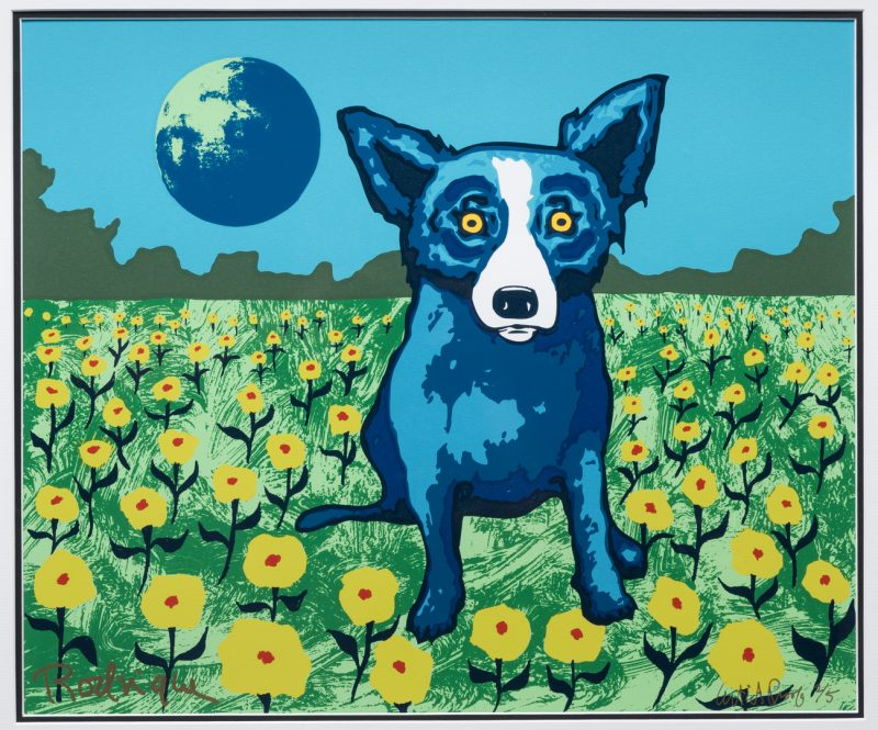 Lot 468: George Rodrique, Blue Dog Serigraph