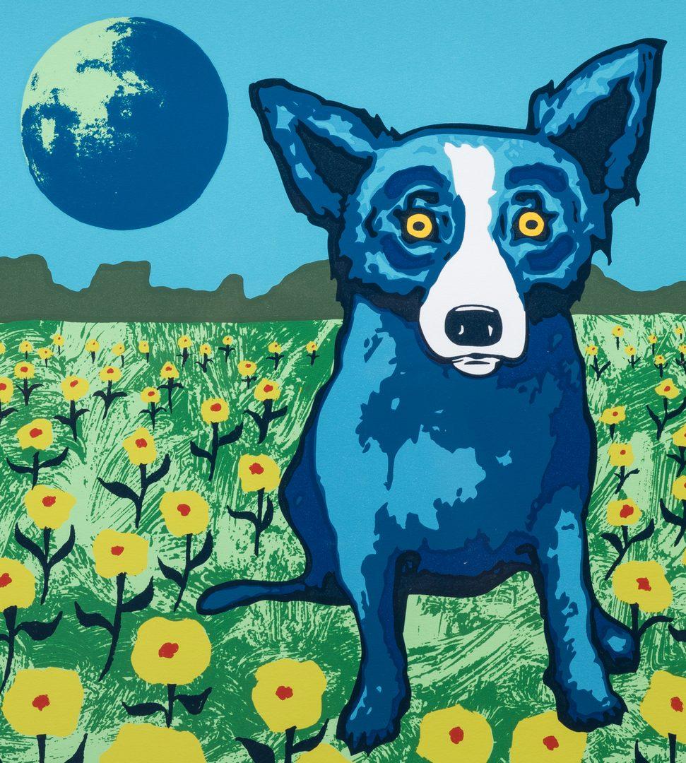 Lot 468: George Rodrique, Blue Dog Serigraph