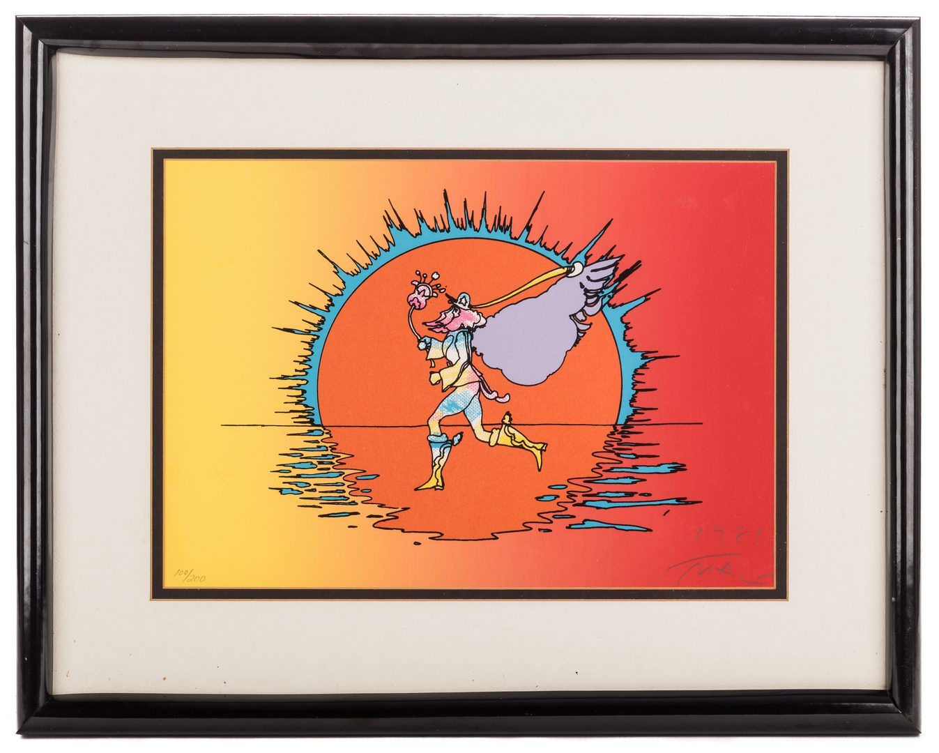 Lot 470: Peter Max Signed Serigraph of a Runner
