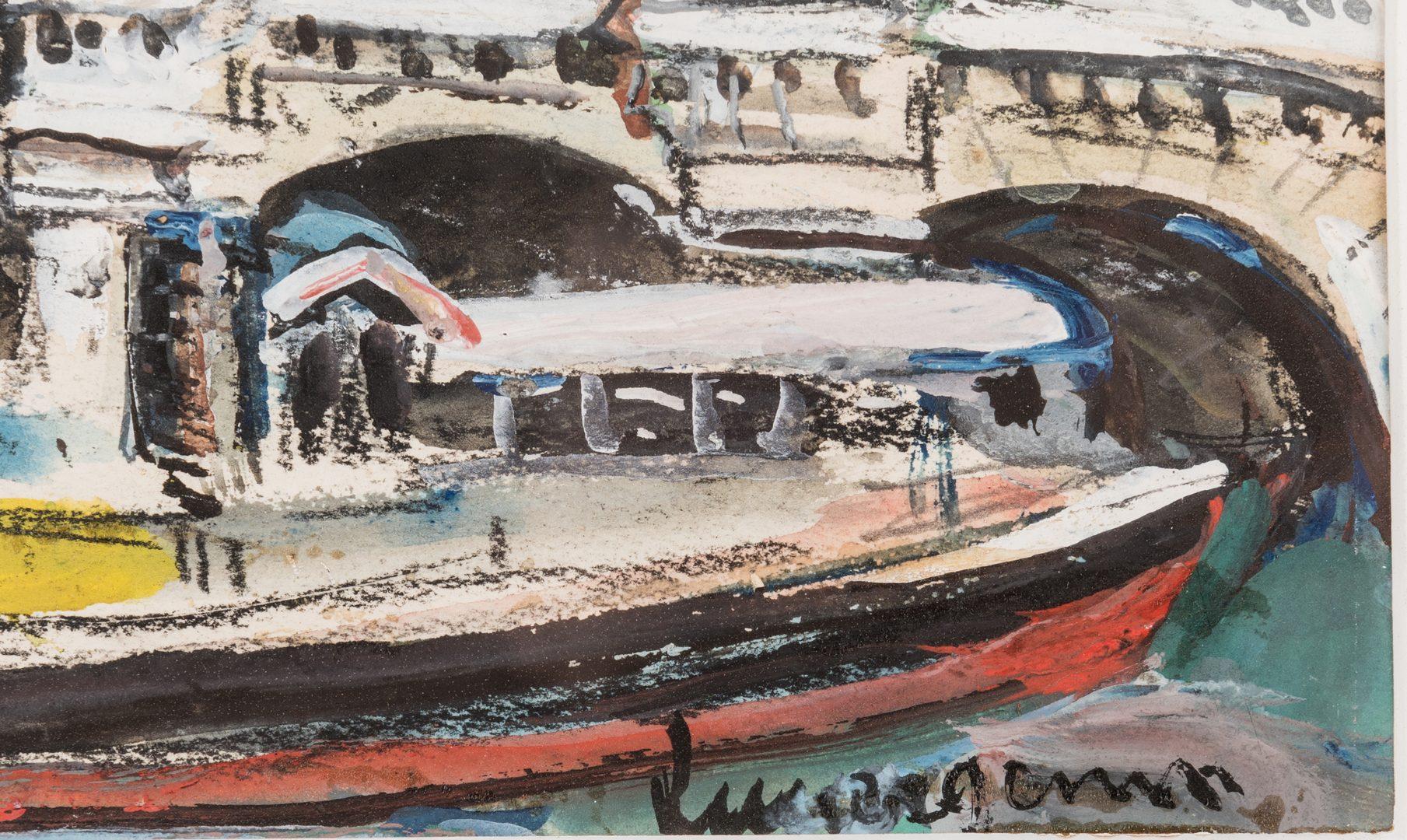 Lot 473: 2 Lucien Genin Watercolor Paintings