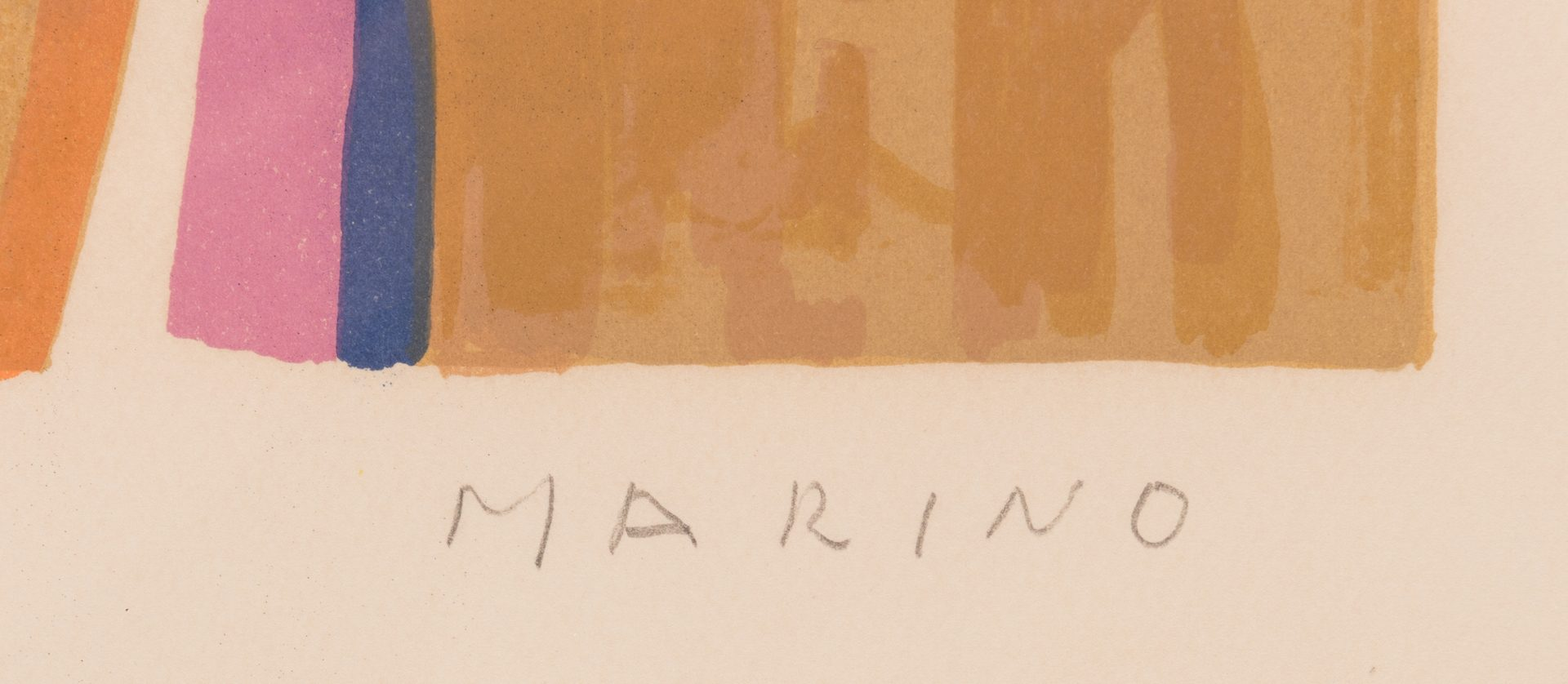 Lot 475: Marino Marini signed litho, Horse and Rider