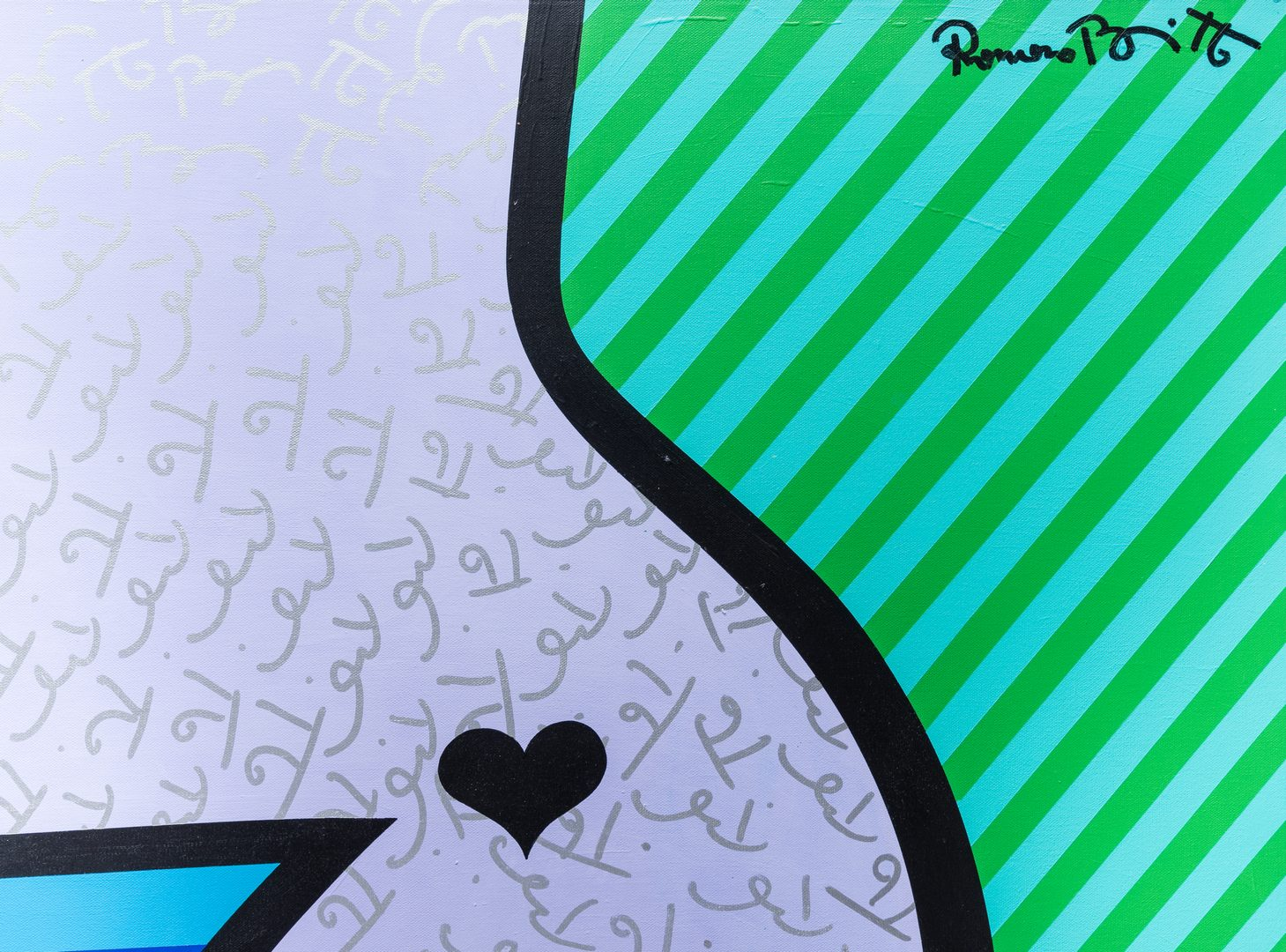 "Lot 476: Romero Britto ""Nude Torso"""
