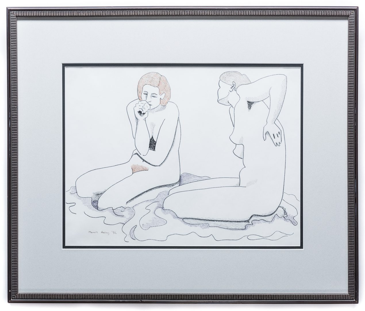 Lot 477: March Avery Nude Drawing