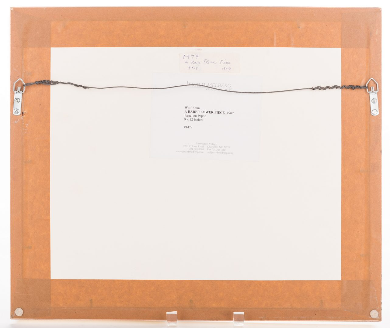 Lot 479: Wolf Kahn Pastel Painting