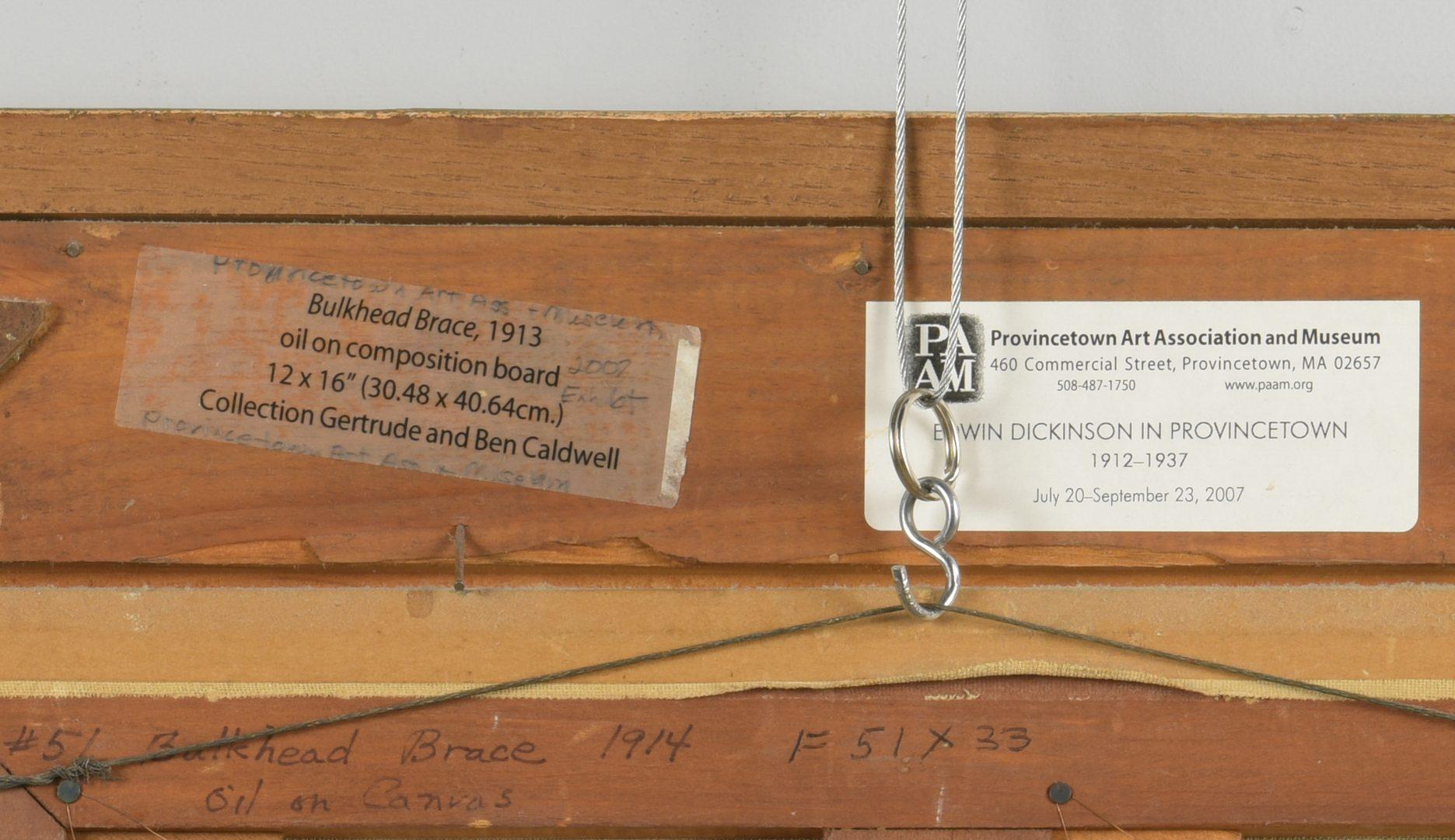 Lot 480: Edwin Dickinson O/C Bulkhead Brace