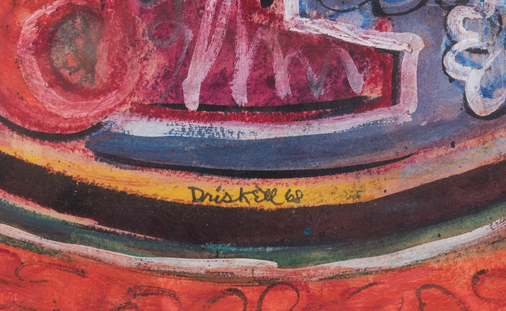 Lot 481: David Driskell, Woodcut/Silkscreen, Fruit Bowl