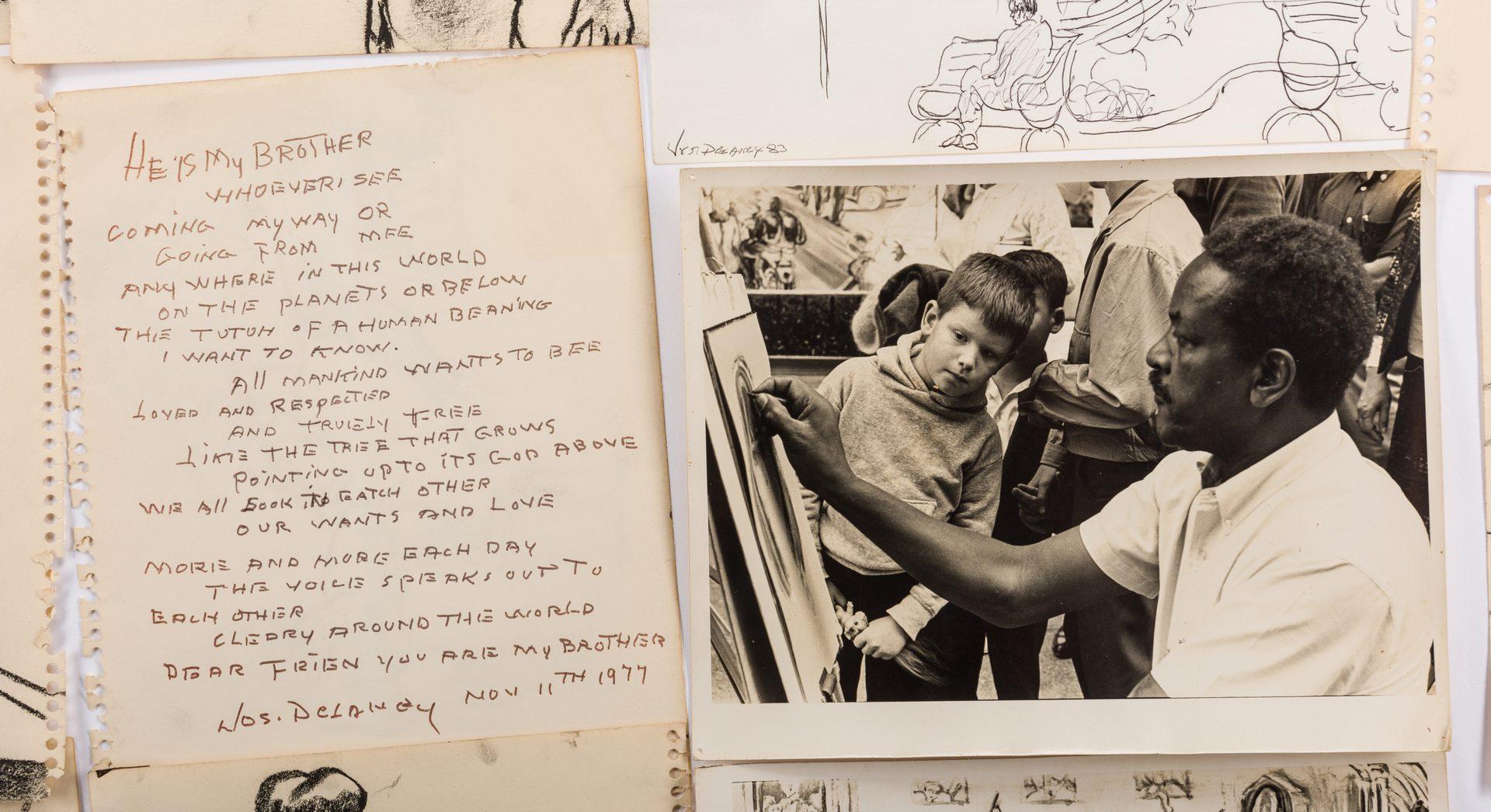 Lot 482: Joseph Delaney Archive, inc. Sketches, Photographs, 46 items