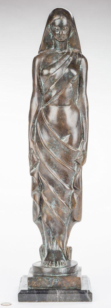 Lot 486: Modernist Bronze Sculpture of Female