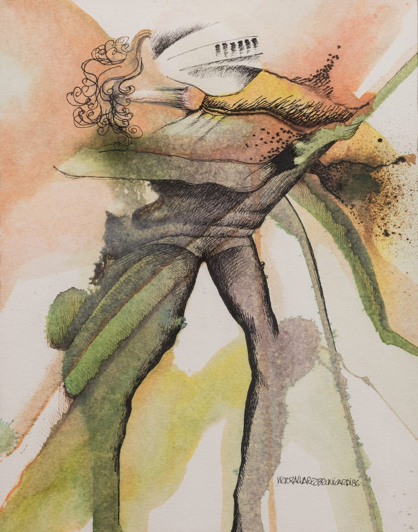 Lot 488: 6 Victor Alvarez Brunicardi Watercolors of Knights