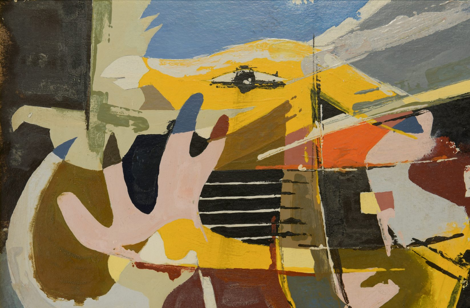 Lot 490: Ted Burnett Cubist Painting, Noah's Ark