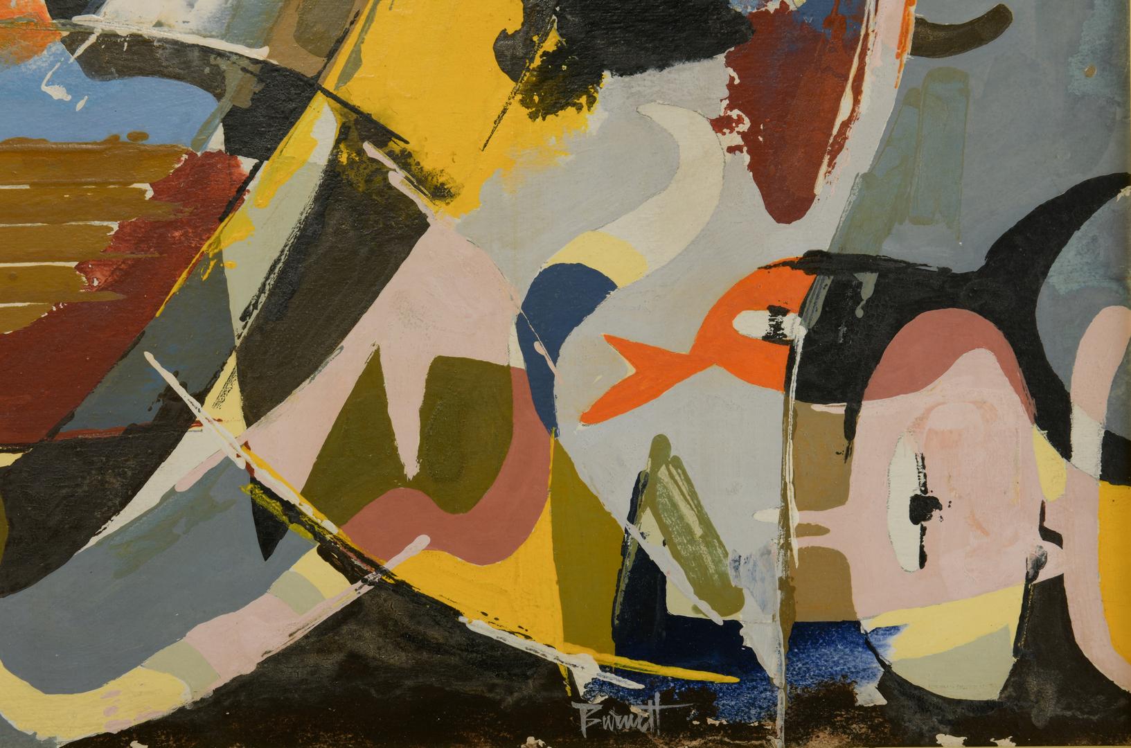 Lot 490 Ted Burnett Cubist Painting Noah S Ark
