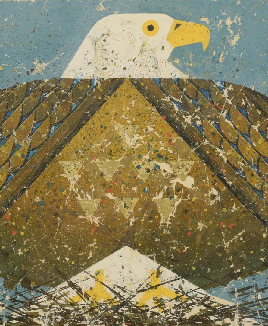 Lot 491: Ted Burnett Painting, American Eagle
