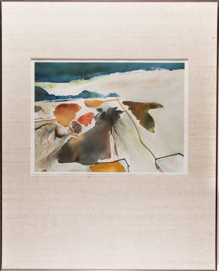 Lot 492: Walter Hollis Stevens Abstract Watercolor