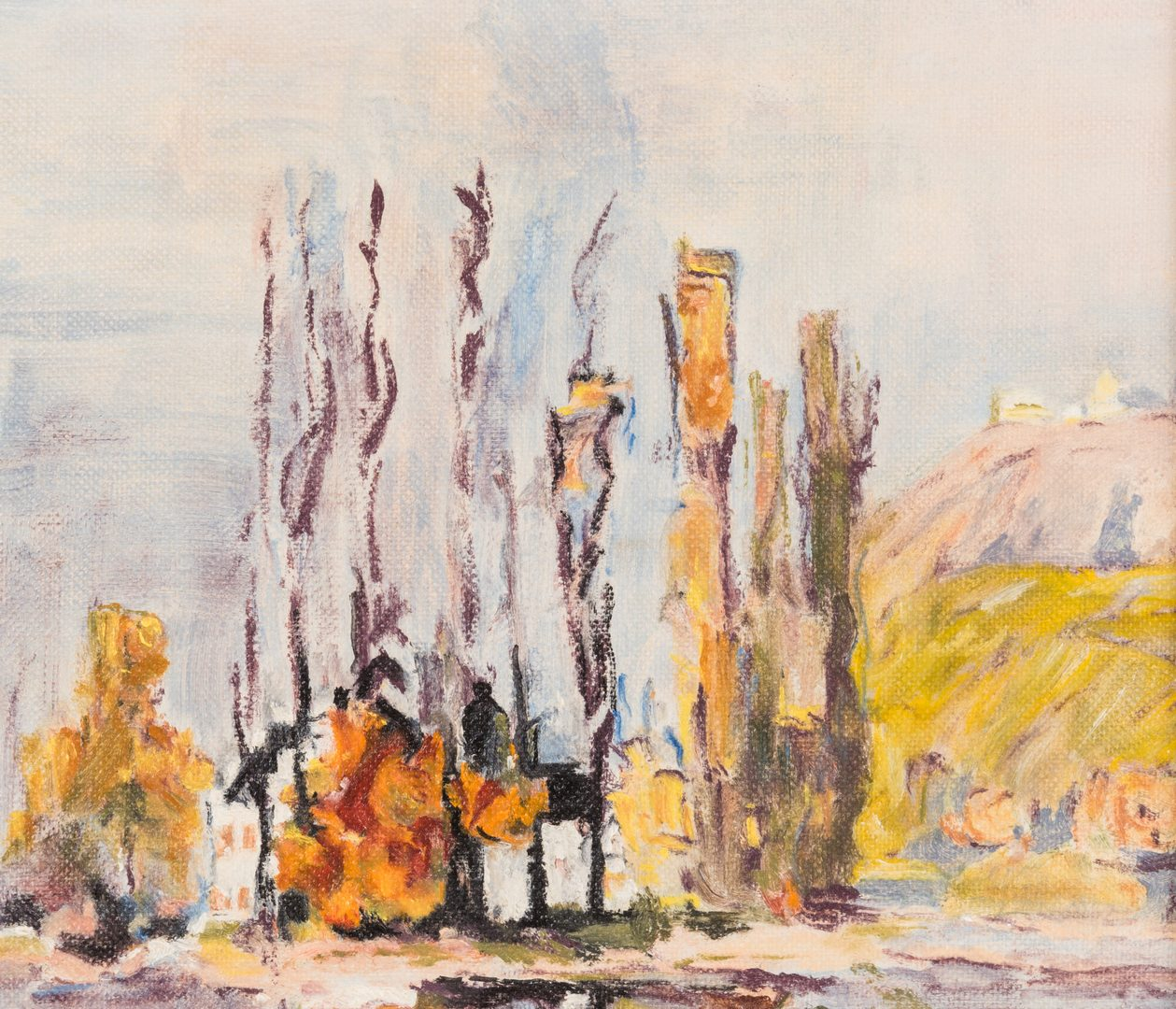 Lot 493: 3 Landscapes: Jerry Van Megert and Kit Boberta, Burning House