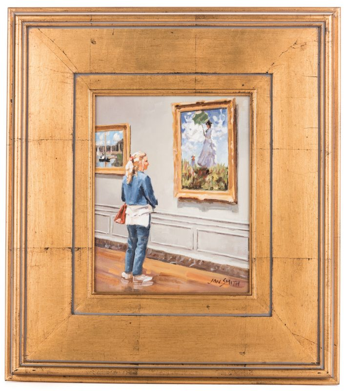 Lot 494: Jon Smith, O/C, National Gallery Wash D.C. Cy Monet