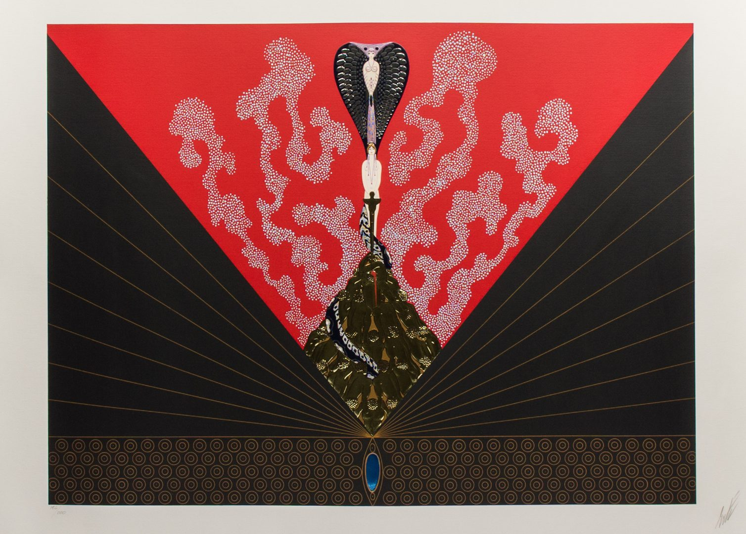"Lot 495: Pair of Erte Serigraphs, ""The Triumph of the Courtesan"" & ""The Cocktail Party"""