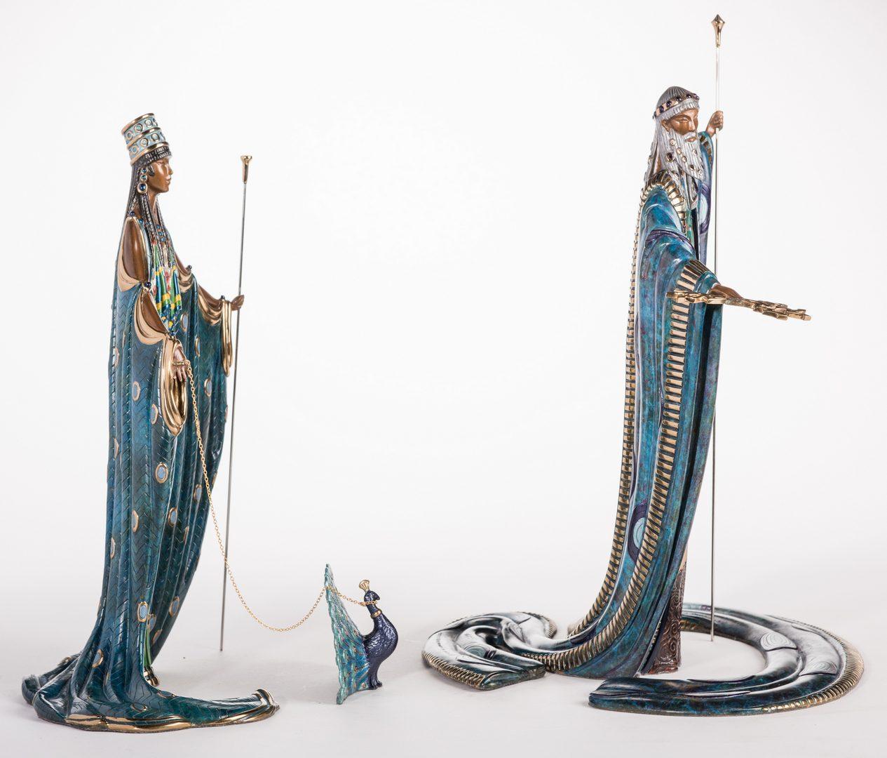 Lot 497: Erte Sculpture, Hera & Zeus