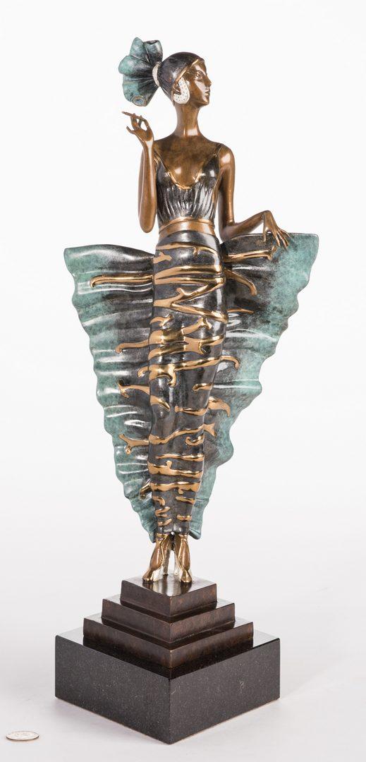 Lot 502: Erte Sculpture, Femme Fatale