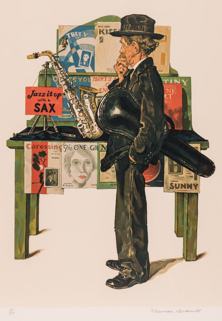 Lot 505: Norman Rockwell Lithograph, Jazz it Up
