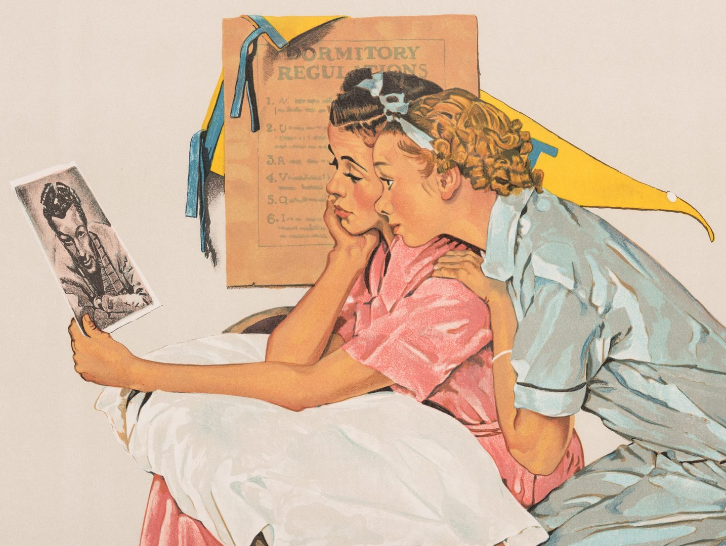 Lot 506: Norman Rockwell Lithograph, Dreamboats
