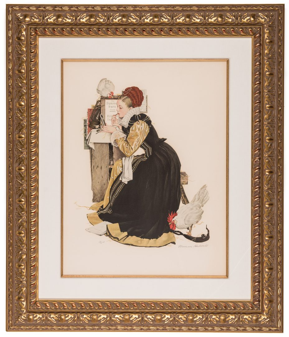 Lot 507: Norman Rockwell Lithograph, Summer Stock