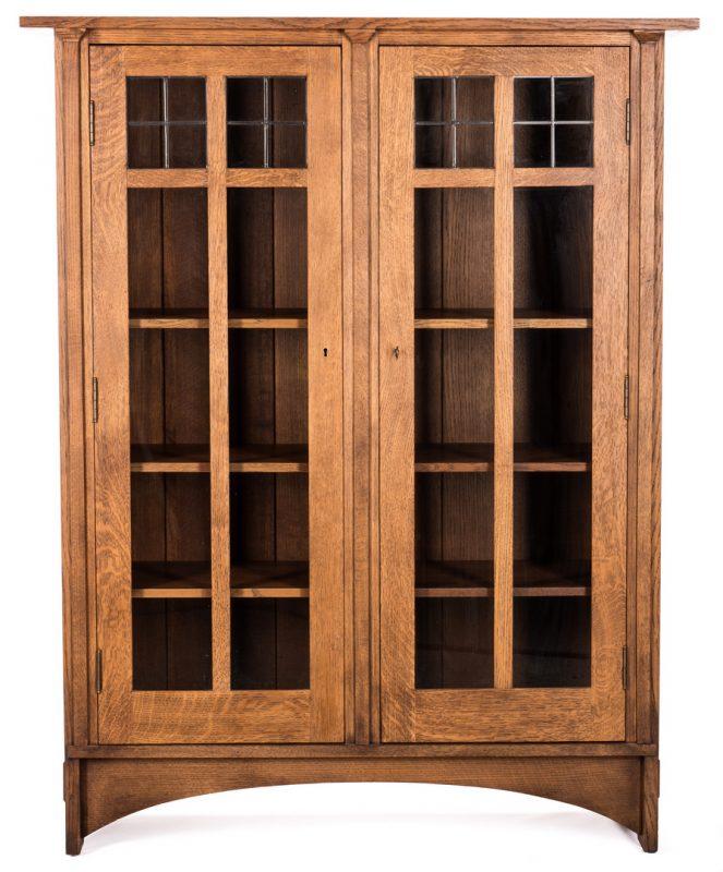 Lot 508: Contemporary Stickley 2 Door Oak Cabinet