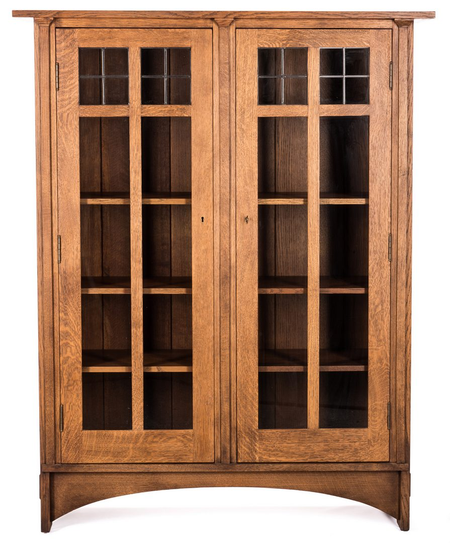 Lot 508: Contemporary Stickley 2 Door Oak Cabinet