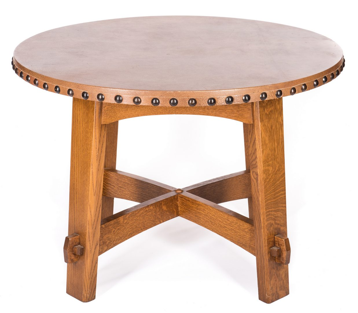 Lot 509: Contemporary Stickley Round Table