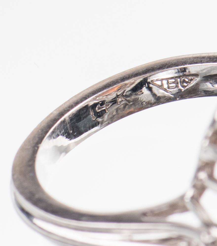 Lot 50: 10 ct Lightening Ridge Opal Diamond Ring