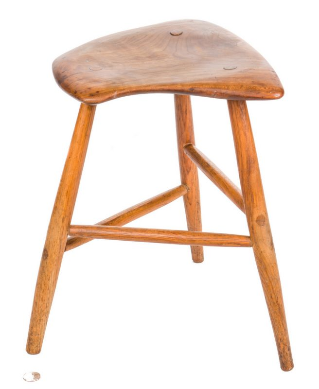 Lot 512: Wharton Esherick three-legged stool