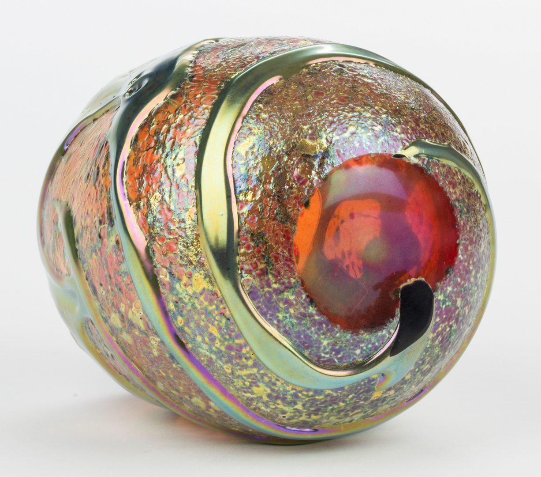 Lot 514: Charles Lotton Amber Gold Lava Vase