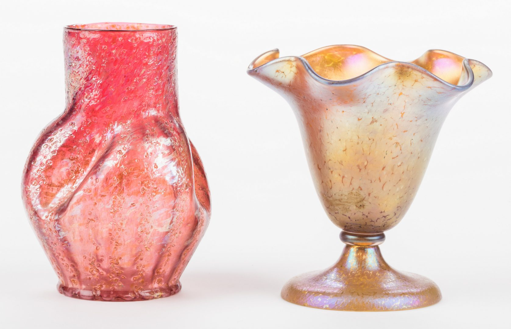 Lot 518: 2 Art glass vases